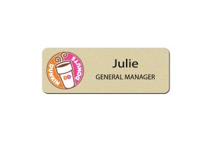 Dunkin Donuts Gold Name Tags