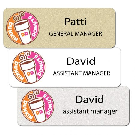 Dunkin Donuts Name Badges