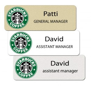 Starbucks Name Tags