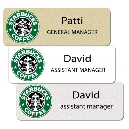Starbucks Name Tags