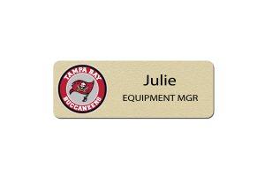 Tampa Bay Bucs Manager Name Badges