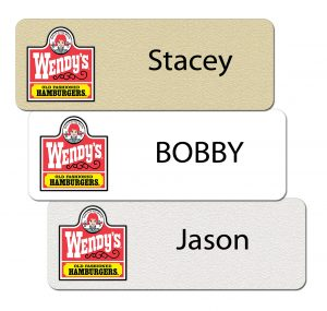 Wendy's Name Badge Collage