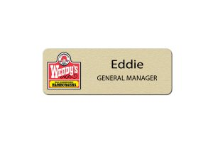 Wendy's Manager Name Badges