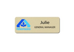 Albertsons Manager Name Badges