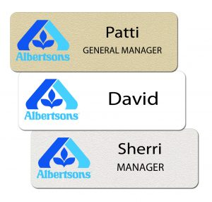 Albertsons Name Tags and Badges