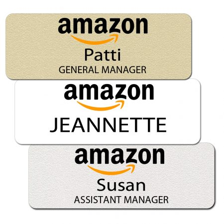 Amazon Name Tags and Badges