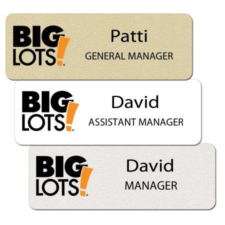 Big Lots Name Tags and Badges