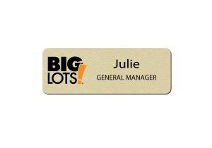 Big Lots Manager Name Badges