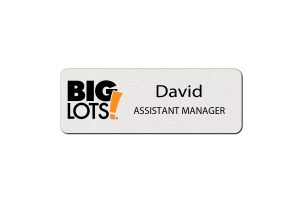 Big Lots Employee Name Tags
