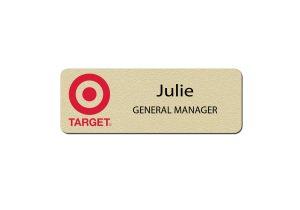 Target Manager Name Badges