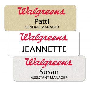 Walgreens Name Tags and Badges
