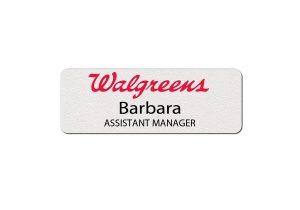 Walgreens Plastic Name Tags