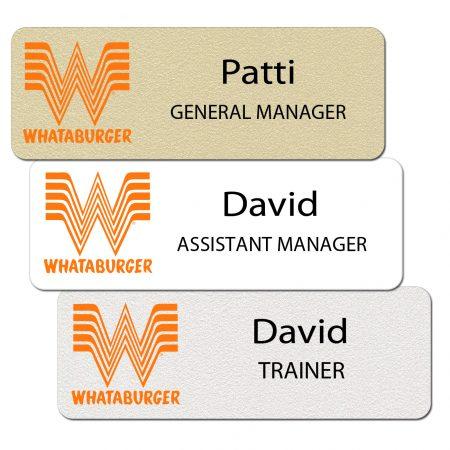 Whataburger Name Tags and Badges