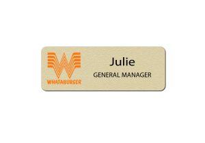 Whataburger Manager Name Badges