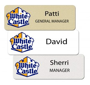 White Castle Name Tags and Badges