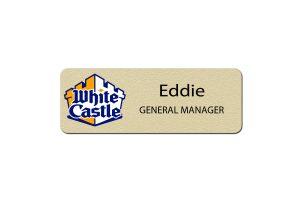 White Castle Manager Name Badges