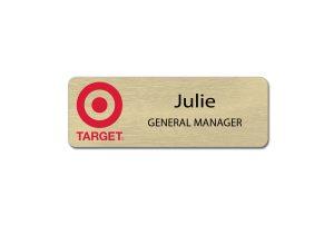 Target Metal Name Tags