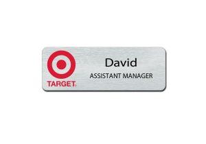 Target Metal Employee Name Badges